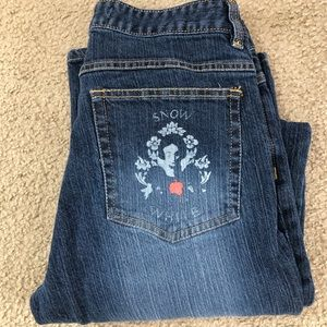 Disney Snow White Apple and Floral Accent Jeans